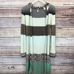 Gimmicks By BKE Duster Cardigan Small Mint Green